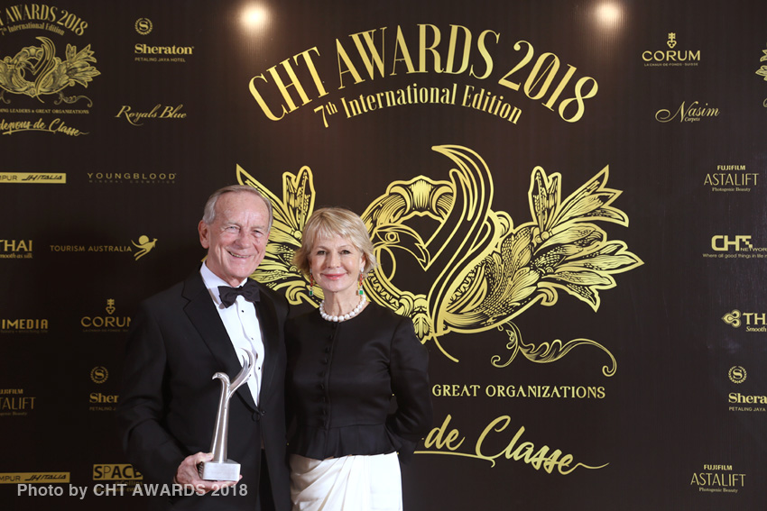 Jim Thompson with his wife Sally Thompson at the CHT Awards