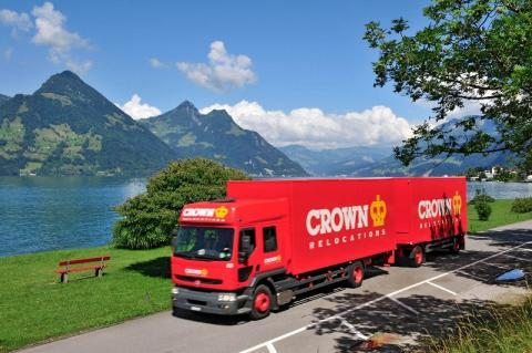 Photograph of a Crown Relocations lorry